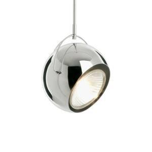 Fabbian Fabbian Beluga Steel chrómová závesná lampa Ø14cm