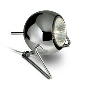 Fabbian Fabbian Beluga Steel chrómová stolná lampa Ø 9cm
