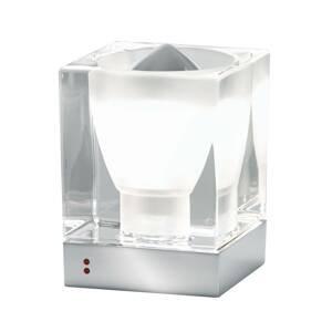 Fabbian Fabbian Cubetto stolná lampa E14 chróm/číra