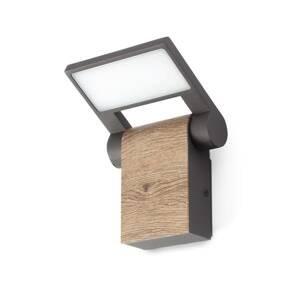 FARO BARCELONA Vonkajšie nástenné LED svietidlo Wood