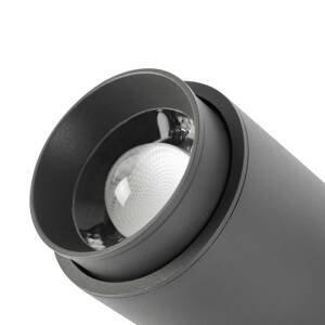 FARO BARCELONA Vonkajší nástenný LED projektor Plom, tmavosivá