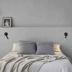 FARO BARCELONA Nástenné LED svietidlo Press, čierna