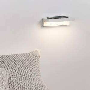 FARO BARCELONA Nástenné LED svetlo Well USB, nabíjačka, biela