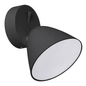 FARO BARCELONA Flash – čierne nástenné LED svietidlo
