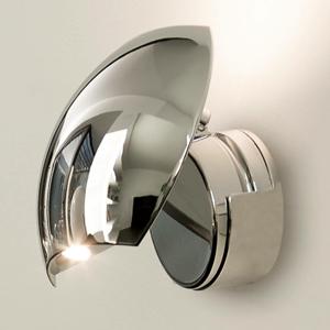 FARO BARCELONA Lesklé chrómové nástenné LED Swing nastaviteľné