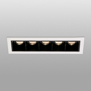 FARO BARCELONA Zapustené LED svietidlo Troop s rámom, 5-pl.