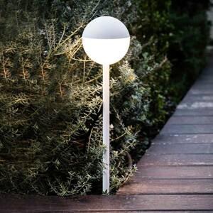 FARO BARCELONA Chodníkové LED Piccola s hrotom do zeme v bielej