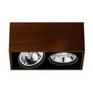 FLOS ARCHITECTURAL FLOS Compass Box H135 stropné svietidlo 2pl wenge