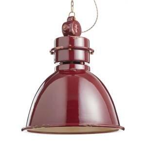Ferro Luce Závesná lampa C1750 keramické tienidlo, bordó