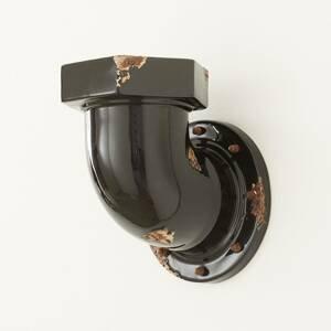 Ferro Luce Nástenné svietidlo C1810 v tvare rúrky, čierne