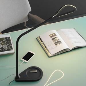 Fontana Arte Fontana Arte Kinx LED lampa na písací stôl, čierna