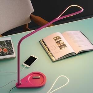 Fontana Arte Fontana Arte Kinx LED lampa na písací stôl, ružová