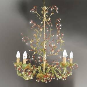 Ferro Luce Visiaci luster Viticcio v kvetinovom návrhu