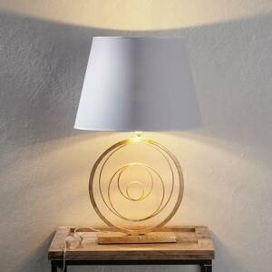 Ferro Luce Vznešená stolná lampa Ring so zlatým podstavcom
