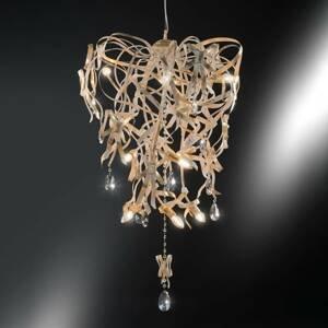 Ferro Luce Závesná lampa Greta so zlatou patinou, 9-plameň