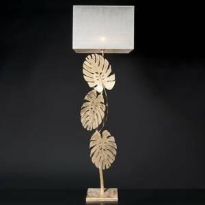 Ferro Luce Dizajnérska stojaca lampa Lizia s lístkovým zlatom