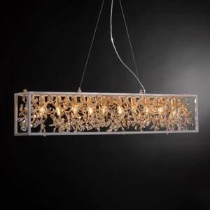 Ferro Luce Závesná lampa 3333/10 S, 10-pl. s krištáľmi