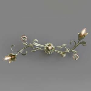 Ferro Luce Florentínske stropné svietidlo Tulipe, 3-plameňové