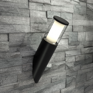 Fumagalli Nástenné LED svietidlo tvar pochodne Carlo, čierne