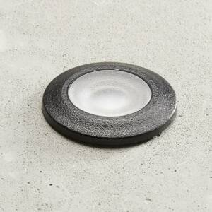 Fumagalli LED zapustená lampa Aldo, okrúhla čierna/číra