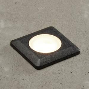Fumagalli LED zapustená lampa Aldo, hranatá, čierna/číra