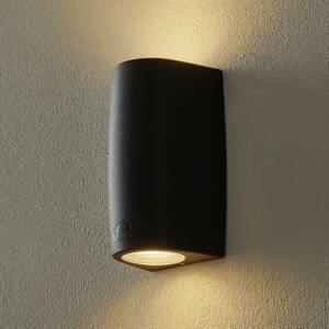Fumagalli Nástenná lampa Marta 9,2 cm 2–pl. CCT čierna/matná