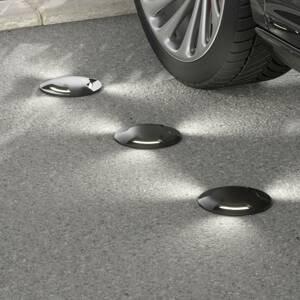 Fumagalli LED podlahový reflektor Ceci 160–3L čierne CCT