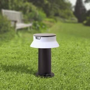 Fumagalli Solárna LED lampa Felice čierna CCT výška 33cm