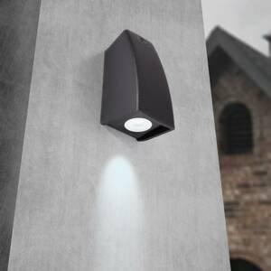 Fumagalli Vonkajšie nástenné LED Mamete 3000K čierne hranaté