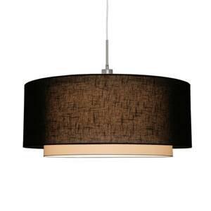 Freelight Závesná lampa Camelot, 1-plameňová, čierna