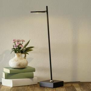 Freelight Stolná LED lampa Block, stmievateľná. čierna