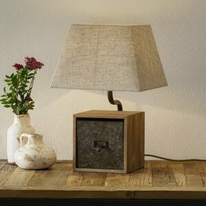 Freelight Stolná lampa Cassetto s priečinkom, výška 46cm