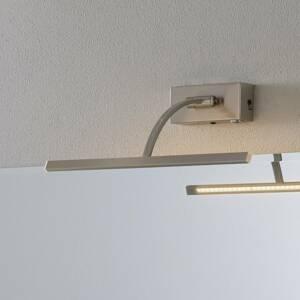 Freelight Nástenné LED svetlo Matisse, šírka 34cm, striebro