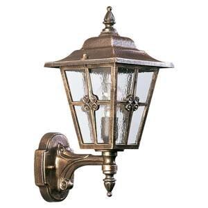 Albert Leuchten Vonkajšie svietidlo 763 katedrálne sklo hnedé