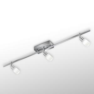 Knapstein Stropné LED Siara, 3-pl. stmievateľné matný nikel