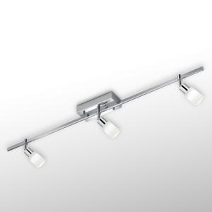 Knapstein Stropné LED svetlo Siara, 3-pl. chróm