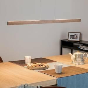 Knapstein Závesné LED svetlo Pia ovládanie gestom dub 95 cm