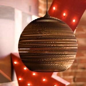 Graypants Lopta – okrúhla kartónová závesná lampa 26cm