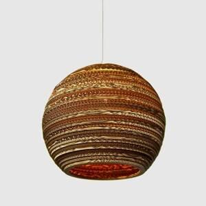 Graypants Lopta – okrúhla kartónová závesná lampa 36cm