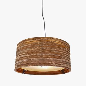 Graypants Závesná lampa Drum z recyklovaného kartónu 45cm