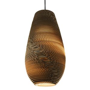 Graypants Drop – kartónová závesná lampa 25cm
