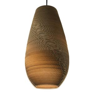 Graypants Drop – kartónová závesná lampa 36cm