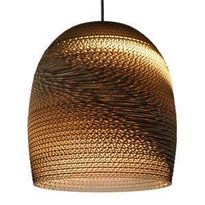 Graypants Ekologická kartónová závesná lampa Bell