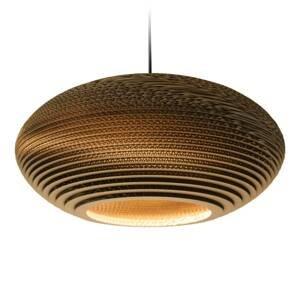 Graypants Závesná lampa Disc hnedá Ø 50cm