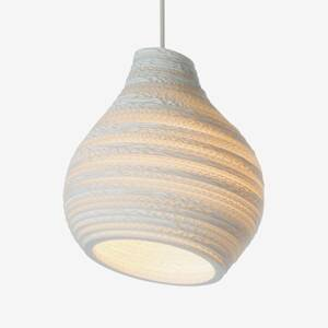 Graypants Závesná lampa Hive biela Ø 23cm
