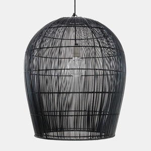 AY ILLUMINATE Závesná lampa Buri Bulb small, Ø 54cm, čierna