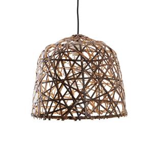 AY ILLUMINATE Závesná lampa Black Bird's Nest small z bambusu