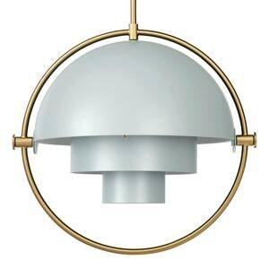 GUBI GUBI Multi-Lite závesná lampa 32cm mosadz/zelená
