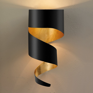 Gibas Nástenné svietidlo Remi čierno-zlaté