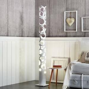 Gibas Biela dizajnová stojaca lampa Thor